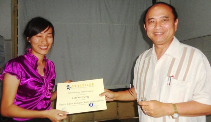 Graduation ceremony - OM Yeng Tieng